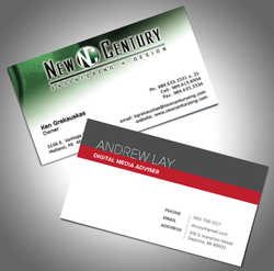 New Century & Review Business Cards