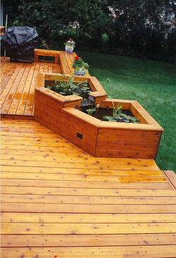2 Level Deck &  Water Planters