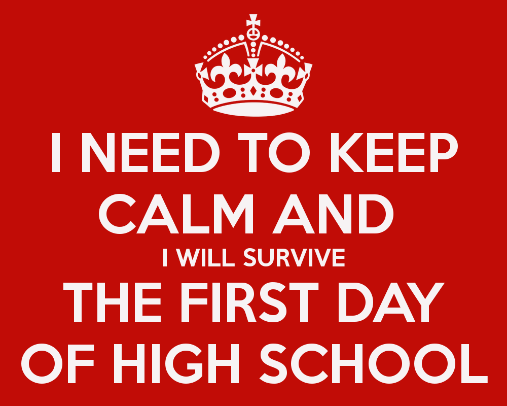 the first day of high school myworld