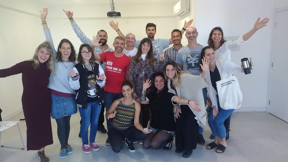 Equipe de empreendedores juntos pela sustentabilidade.