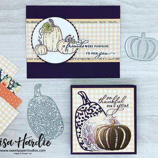 A Gorgeous Pretty Pumpkins Box and Matching Card (VIDEO)
