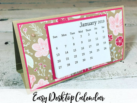 Easy Desktop Calendar Tutorial w/VIDEO