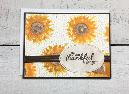 Thankful for You Sunflower Card