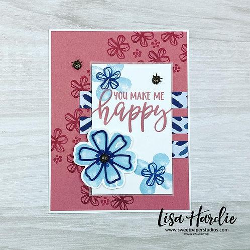 Fun Floral Birthday Card