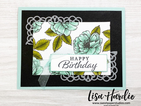 Gorgeous Floral Happy Thoughts Card