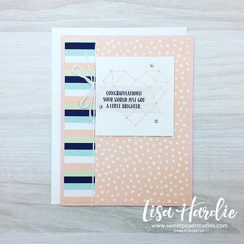 A Little Brighter Baby Card