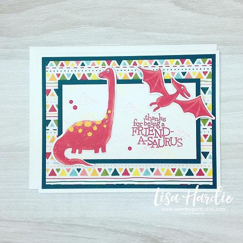 Friend-A-Saurus Card