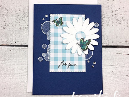 Gingham Gala Daisy Card for PPC333