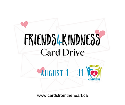 Friends4Kindness Card Drive - August 201