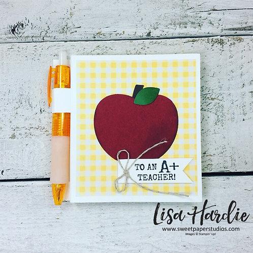 A+ Teacher Post It Note Holder