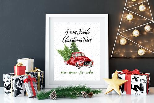 Farm Fresh Christmas Trees Print