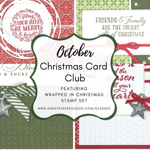 October Christmas Card Club