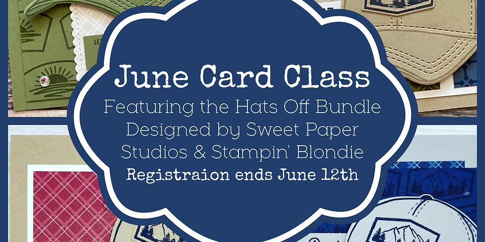 Hats-Off Masculine Online Card Class