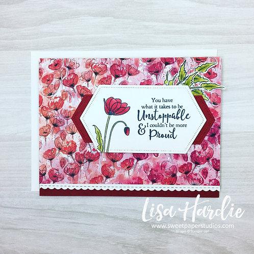 Poppy Encouragement Card