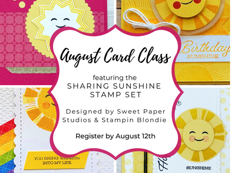 Sharing Sunshine Online Card Class is Here!