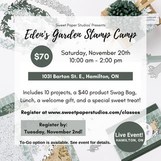 Eden's Garden Pre-Order and Stamp Camp
