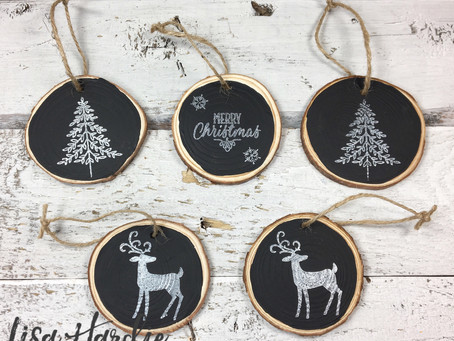 DIY Chalk Paint Rustic Ornaments