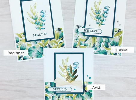 One Card, Three Ways - Forever Greenery Suite