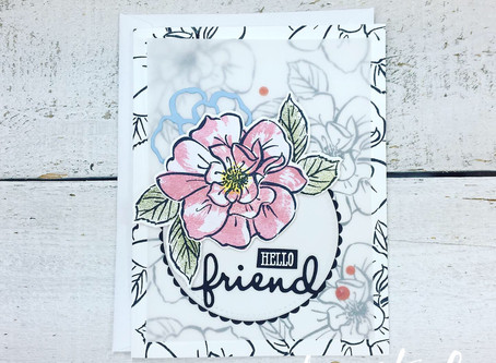 To A Wild Rose Friendship Card