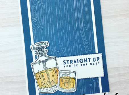 Whiskey Business Masculine Card with PDF Tutorial