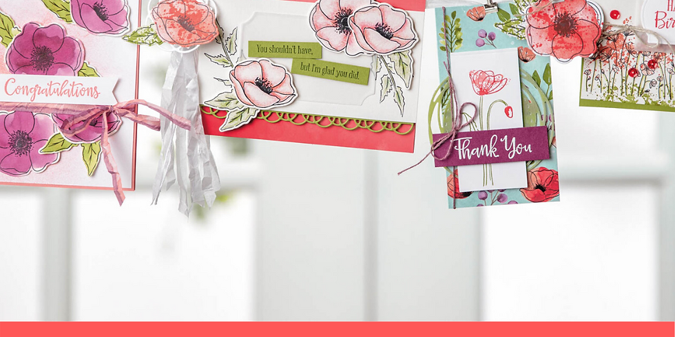 Peaceful Poppies Card Class