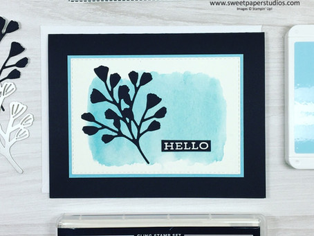 Simple Watercolour Wash With Forever Fern Stamp Set