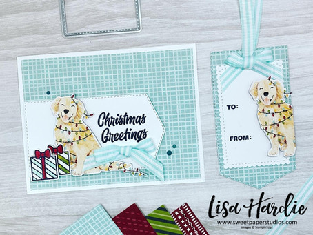 The CUTEST Sweet Stockings Christmas Card and Tag w/ VIDEO