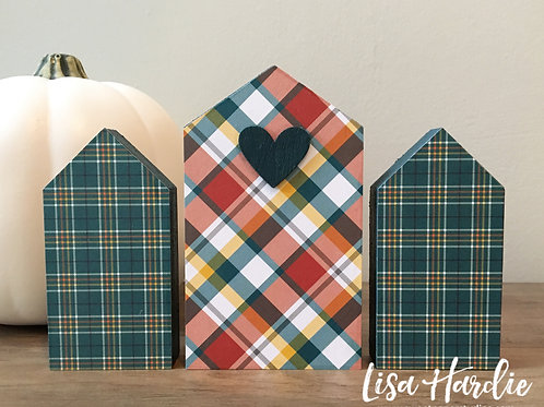 Plaid Sweet Little Houses