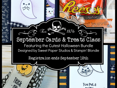 The Halloween Cards & Treats Class is Here!