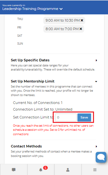 Image 14 Availability Settings - Connect