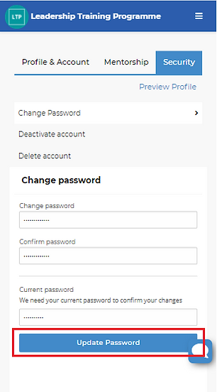 Image 5 Security Tab Update Password Out
