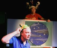"Snail Tales storytellers Nick (top) and David in ""POPWOW"""