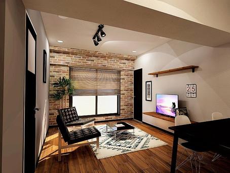 男前的なマンション3Dパース