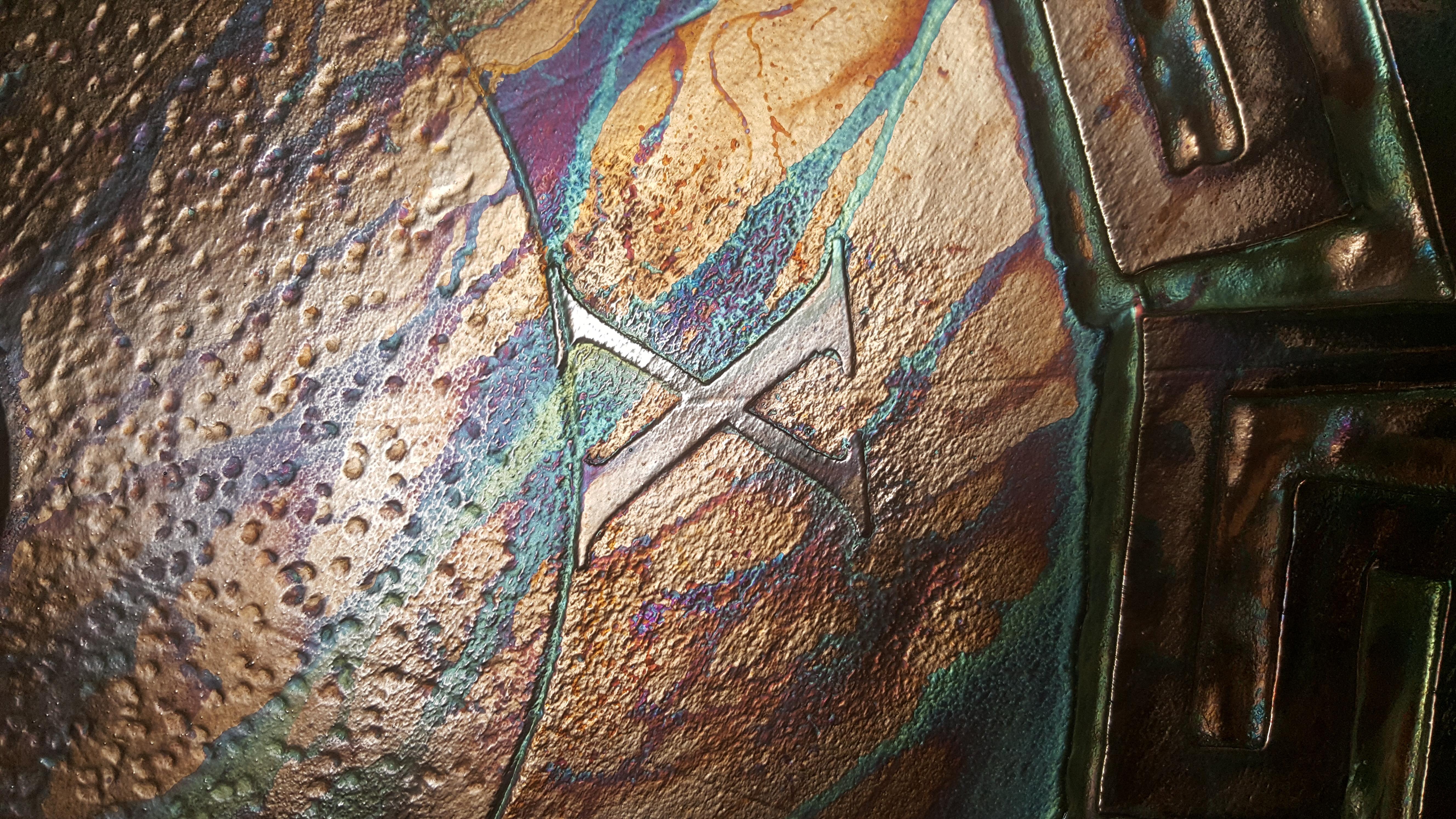 Closeup of texture and patina