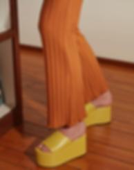 simon miller yellow cork platform sandal