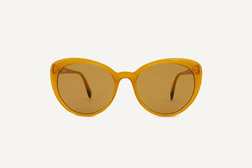 orange cats eye sunglasses from ethical sustainable Dick Moby