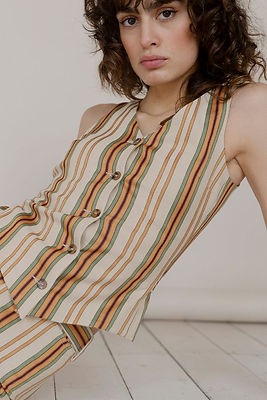 striped vest from Spanish ethical clothing brand Amlul