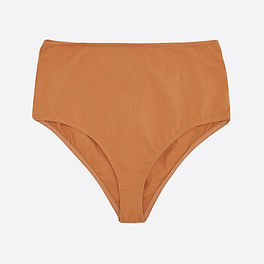 The Nude Label - ethical and organic underwear - basics in bright color burnt orange