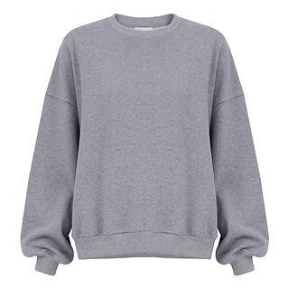 product image of grey oversized organic sweater