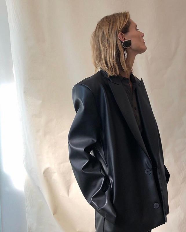 bio vegan leather suit jacket bite studi