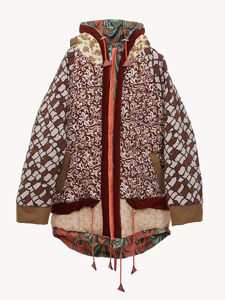patterned puffer from Sheltersuit and Chloe collab product image