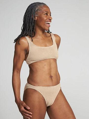 model wearing bikini set from ethical swimwear brand Youswim