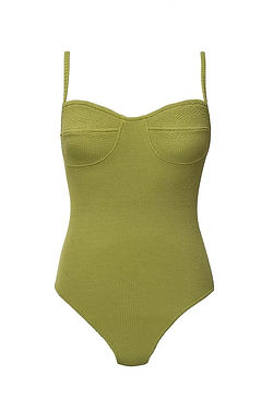 olive green bathing suit from ethical CLO stories
