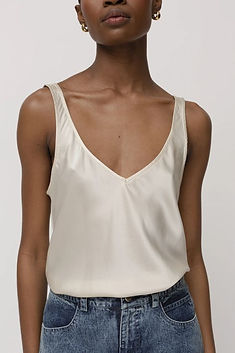Kes - peace silk tank top - made in new york