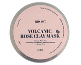organic clay mask in tin with pink label