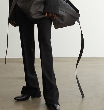 bite studios black wool pants with zippe