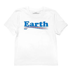 Dedidacted - Vote earth statement t shirt - ethical and fair trade t shirts from denmark