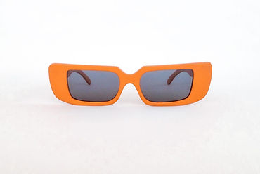 wooden orange rectangular sunglasses from Cus Cuz