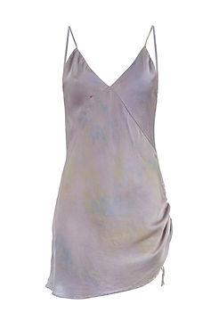 SVNR silk slip dress hand dyed lavender.