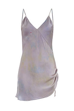 SVNR silk slip dress hand dyed lavender.